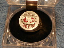 SAN FRANCISCO 49 ER HAND PAINTED  PEWTER RING WITH TEAM LOGO SIZE 10