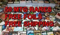 50x Rares ONLY NO DUPES + FREE FOILS MTG Magic The Gathering EDH Box