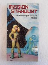 Primo Zeglio MISSION STARDUST 1988 Rhino Video VHS TAPE Spaghetti Sci-FI Cult
