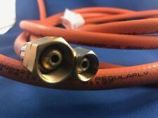 LPG NATURAL GAS HOSE 6mm PVC BLACK 1/4'' BSP FC x 3/8'' BSP-LHF  4000mm 2.6mP