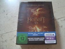 THE HOBBIT TRILOGY 3 movies BOXED 3D Blu-Ray SteelBook & Bilbos BOOK NEW&SEALED