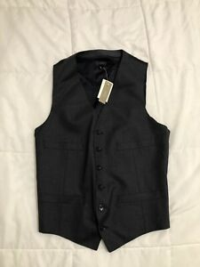 J.Crew Men's Size Small Charcoal Gray Suiting Vest