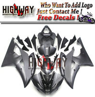 Bodywork Fairings For Yamaha YZF R6 2008-15 ABS Fairing Kit Black Matte Plastic