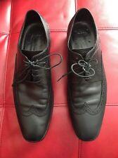 HUGO BOSS Men's Black Leather Wing tip Oxfords Size 10.5 GUC