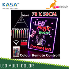 Board Neon Sign Tripod Signage Fluorescent Light Remote Writing LED 70x50cm