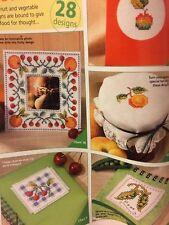 28 X Fruit And Vegatable Designs Cross Stitch Chart