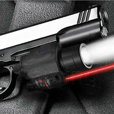 Tactical Combo Led Flashlight/Lights Torch Red Laser Sight Fit For Pistol/Glock