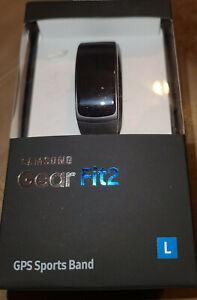 Samsung Gear Fit2 Black GPS Sport Band Large L Smart Watch FIT 2 smartwatch