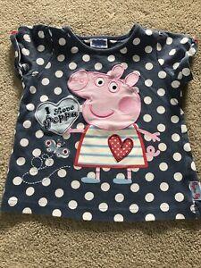 Peppa Pig Girls T-shirt Age 2-3 Years