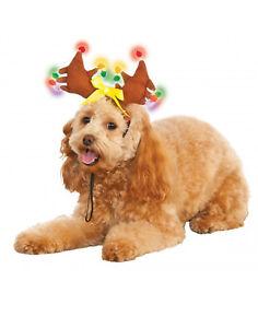 Pet Holiday Accessory Light Up Reindeer Antlers Dog/Cat Christmas Headband