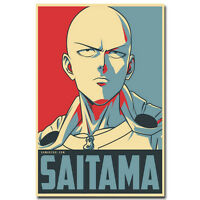One Punch Man Hot Japanese Anime Vintage Silk Poster 12x18 24x36inch Saitama 001