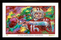 JOE MONTANA L.E. 49/199 ART PRINT ARTWORK SIGNED BY ARTIST, WINFORD
