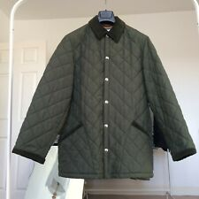 Men's Husky Quilted Jacket Small Corduroy Collar Immaculate