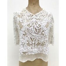 Antique Edwardian Lace Blouse Bridal Wedding Vintage Dress Ivory Floral 20's