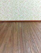 "Classics 1"" Scale Dollhouse Miniature Wood Floor Dark 1/4 11x17 Cla73103"