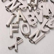 26 ALPHABET LETTER  CHARMS PENDANTS SILVER PLATED 18mm A - Z  SET C108
