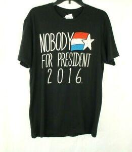 Nobody For President 2016 Election Men's T Shirt Graphic Print Black