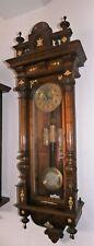 140cm Hoch JUNGHANS Jugendstil Wiener Vienna Regulator mit Bronze - 9A131
