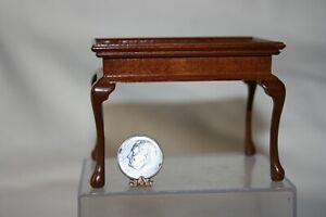 Miniature Dollhouse Replica Antique Queen Anne Tea Table Assembled Xacto 1:12 NR