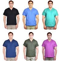 Unisex Men/Women V-Neck Scrub Cotton Uniforms Medical Hospital Nursing Shirt Top