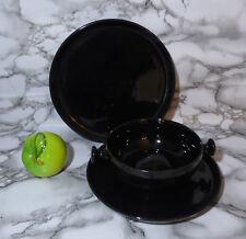 Melitta Frisia colani Zen hoja mientras comíamos 3tig taza de té inferior pastel plato negro