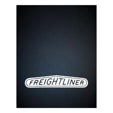 Freightliner 24 x 30 Black / White Logo Poly Mudflap Set - (Pair)