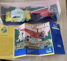 Coffret Voiture Et Helicoptere Miniature De Tintin L'affaire Tournesol Et Certif