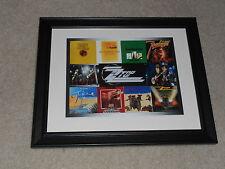 "Framed Zz Top Album Cover Poster, 1971-1983, Rio Grande, DeGuello, Tejas14""x17"""