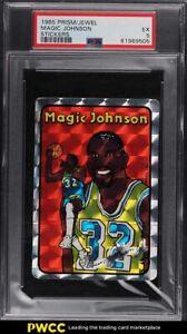 1985 Prism Jewel Stickers Basketball Magic Johnson PSA 5 EX