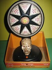 Spooky Village Animated Mystic Fortune Wheel Halloween Prop Led Lights Sound New
