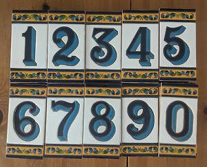 House number tile