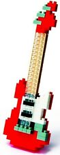 NanoBlock Guitarra Eléctrica NBC.037 - Rojo-Mini Serie De 130 Piezas-Nuevo
