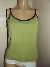LUCA MILANI DONNA GREEN BLACK SWEATER CAMI L SleevelessTop Shirt TANK