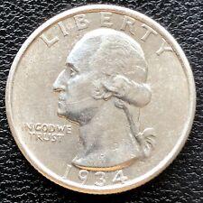 1934 D Washington Quarter Dollar 25c High Grade BU #18376