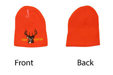 Deer Hunter Hunting Bright Orange Snow Cap Beanie Skull Cap