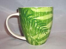 2006 Starbucks Green Leaf Fern Coffee Cup Mug Wide Mouth 14 oz