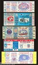 5 1969-1977 BASEBALL ALL-STAR GAME VINTAGE UNUSED FULL TICKETS 69 70 71 76 77