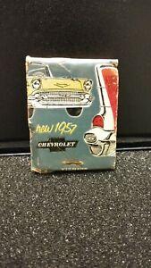"NOS Vintage 1957 Chevrolet Matchbook ""Sweet, Smooth and Sassy"" SCHMIDT DISPLAY"