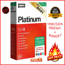 NEW🔥Nero Platinum suite 2021 🔥Latest version ✔️Lifetime License ✔️+ BONUS 🎁🎁