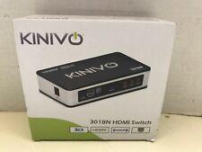 Kinivo 301BN 4K HDMI Switch,IR Wireless Remote (3 Port, 4K 30Hz, Auto-Switching)