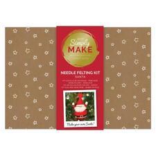 Simply Make Santa Needle Felting Craft Kit -  Christmas Xmas Decoration