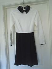 NEW TED BAKER LONDON  Dress Black & White Long Sleeves SIZE 1 (USA 4)