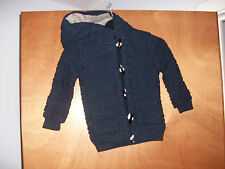 Marks & Spencer M&S Boys Age 4-5 years Blue Knitted Hooded Coat Jacket