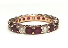 Estate Jewelry 14k Yellow Gold Diamonds & Rubies Eternity Band