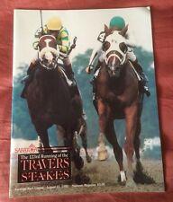 1992 Saratoga Travers Souvenir Magazine, Thunder Rumble