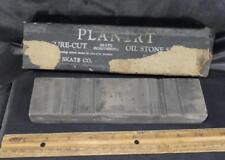 VINTAGE PLANERT SKATE SHARPENING SURE CUT OIL STONE SET ICE SKATE HONE Razor