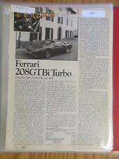 Ferrari Ads, Articles & Road Tests Group #15 1983 to 1983 Models Choice of ONE