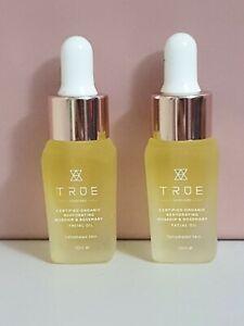 True Skincare Rosehip & Rosemary Facial Oil 10ml x 2  New Sample Travel Size