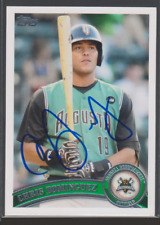 Autographed 2011 Topps Pro Debut Chris Dominguez - Augusta Greenjackets