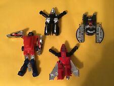 Lot Of 4 Gobots Bandai Tonka Vintage Action Figures, Transformers, Robots